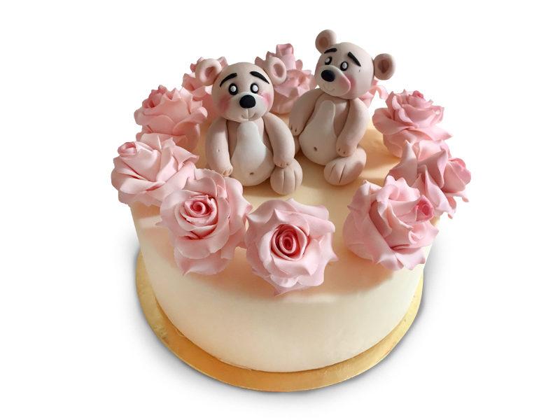 Torta fiori cake design con orsi Varese Castronno