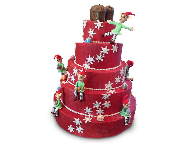 Torta natalizia cake design Varese Castronno